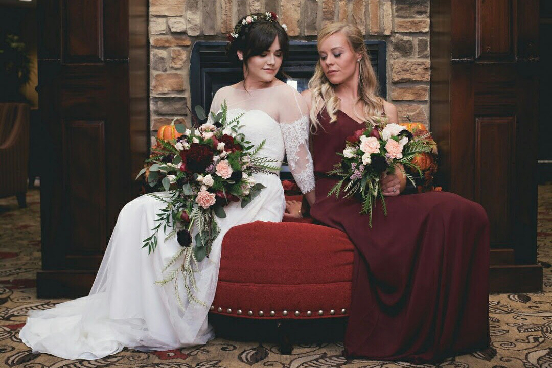 Bridal Makeup and flowers